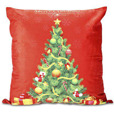 Christmas Tree Pattern Pillowcase Sofa Cushion Cover $3 23 line