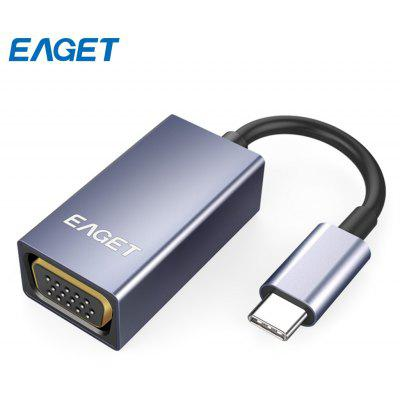 EAGET CH01 Type-C to VGA Adapter HD Video Converter