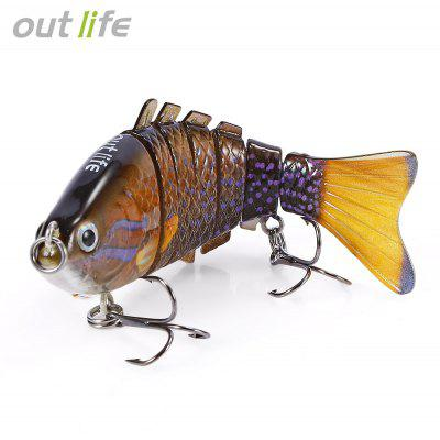 Outlife 7-segmentação Swimbait Crankbait Fishing Artificial Bait