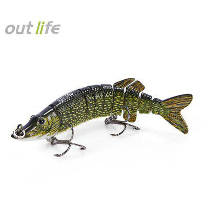 Outlife 9-segement Pike Muskie Fishing Lure Artificial Bait