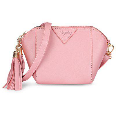 Buy PINK Women Tassel Phone Shoulder Crossbody Shell Bag Handbag for $11.60 in GearBest store