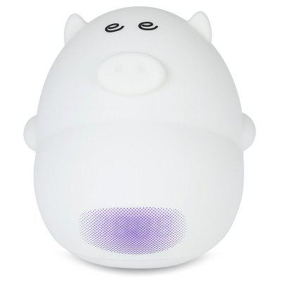 Cute Pig Soft Silicone 7 Colors LED Alarm Clock Lamp