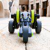 208008 5 Wheels Remote Control Race Stunt Car with LED Light - GREEN