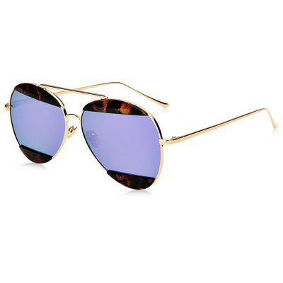 Stylish Colorful Eyebrow Pattern Metal Sunglasses