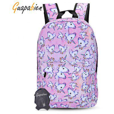 Buy PINK Guapabien Traveling Girls 3D Unicorn Print Backpack School Bag for $9.56 in GearBest store