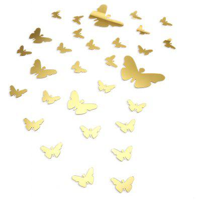 3D Butterfly Mirror Acrylic Wall Sticker Home Decoration
