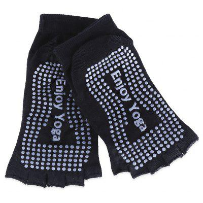 Yoga Dance Anti-Slip Exercise Massage Half Toe Socks