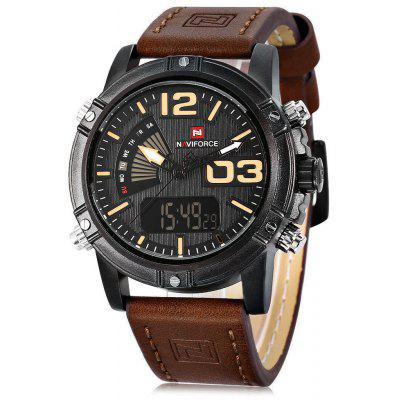 Gearbest NAVIFORCE NF9095M Men Dual Movt Watch