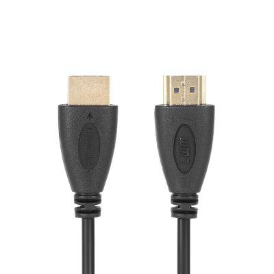 LWM HDMI 1.4 Gold Plated Cable Support 1080P 3DCables &amp; Connectors<br>LWM HDMI 1.4 Gold Plated Cable Support 1080P 3D<br><br>Color: Black<br>Connectors: Male-Male<br>Package Contents: 1 x HDMI Cable<br>Package Size(L x W x H): 17.00 x 16.00 x 1.00 cm / 6.69 x 6.3 x 0.39 inches<br>Package weight: 0.0600 kg<br>Product weight: 0.0360 kg<br>Size: Other<br>Type: 1.4