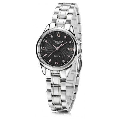 Buy SILVER AND BLACK GUANQIN GQ80007 1A Women Quartz Watch for $44.34 in GearBest store