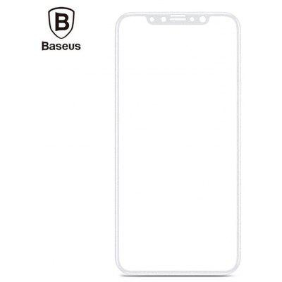 Baseus Silk-screen Full-frosted 3D Soft PET Tempered Glass Film Shatterproof Screen Protector for iPhone X 0.23mm