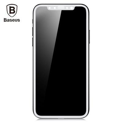 Baseus Silk screen 3D Soft PET Edge Tempered Glass Film Shatterproof Screen Protector for iPhone X 0.23mm
