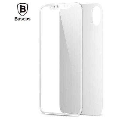 Baseus Tempered Glass Set Front + Back Film Shatterproof Screen Protector for iPhone X