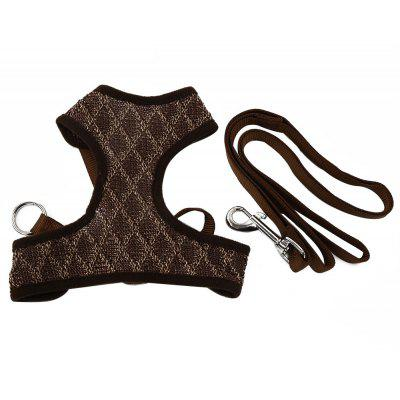 XuanCheng Plaid Style Pet Dog Mesh Vest with Traction Rope