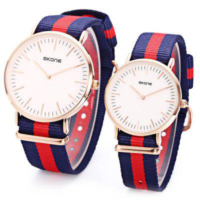 SKONE 6165 Couple Quartz Watch