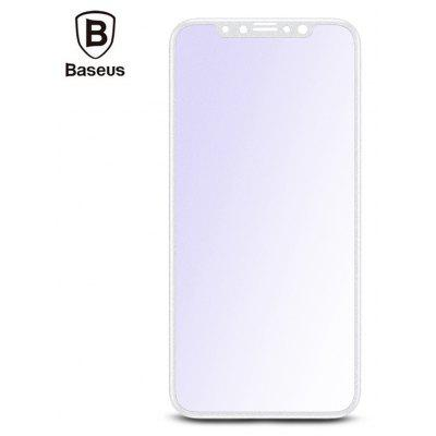 Baseus Silk-screen Full-frosted 3D Soft PET Tempered Glass Film Anti-blue Shatterproof Screen Protector for iPhone X 0.2
