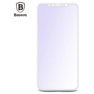 Baseus Silk-screen 3D Soft PET Edge Tempered Glass Film Anti-blue Shatterproof Screen Protector for iPhone X 0.23mm