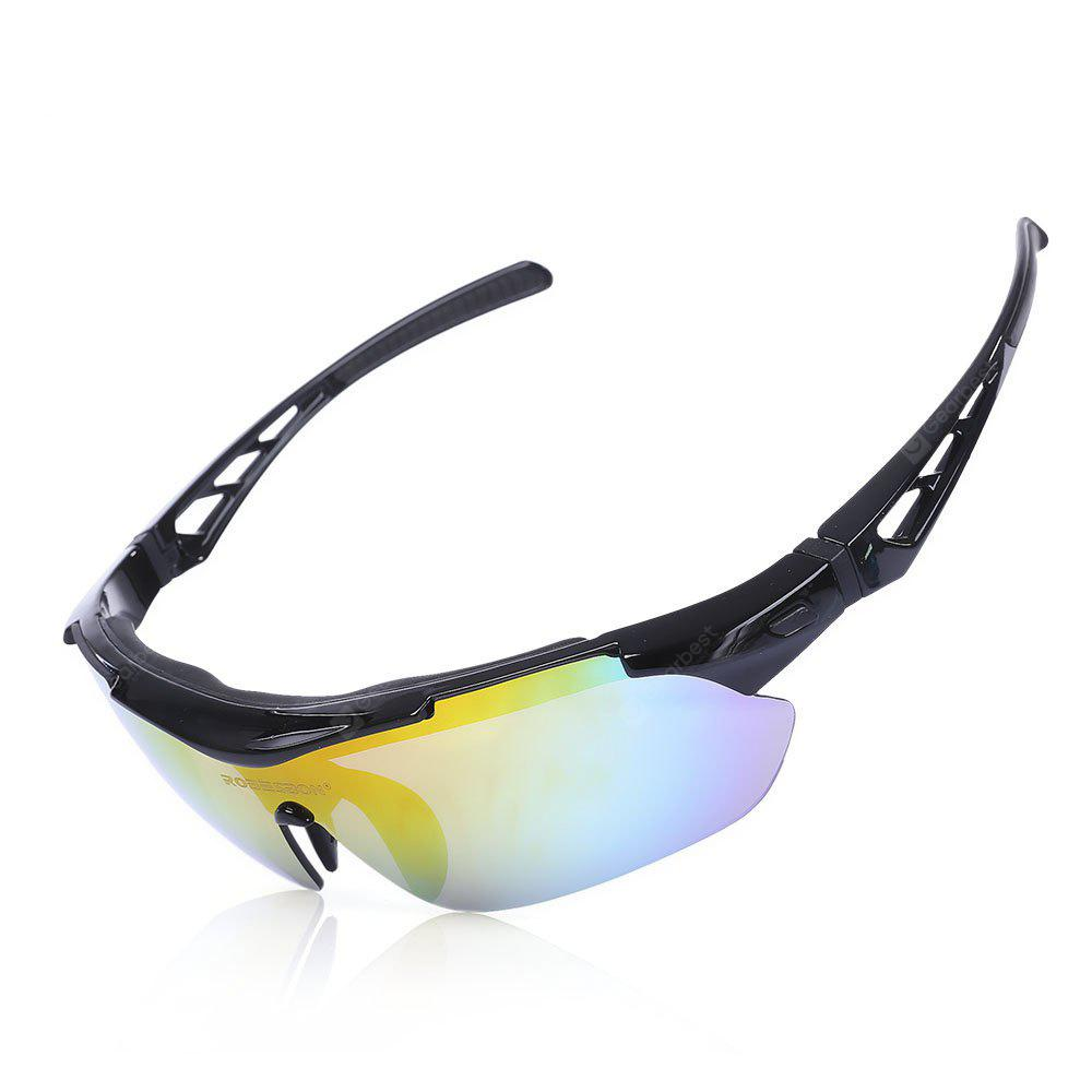 BLACK Robesbon TSR838 Cycling UV Protection Polarized Sunglasses