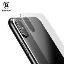 Baseus 3D Silk-screen Tempered Glass Back Film for iPhone X