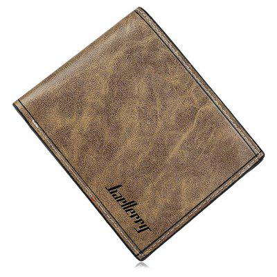 Male Solid Color Leather Fold Wallet