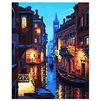 Buy COLORMIX Venice Night DIY Digital Oil Painting Art Wall Decoration for $7.49 in GearBest store