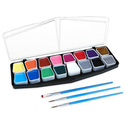 16 Colors Palette Best Face Paint Kit for Adults and Kids