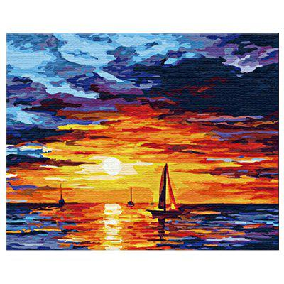 Buy COLORMIX Sunrise DIY Digital Oil Painting Art Home Wall Decoration for $7.82 in GearBest store