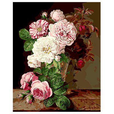 Buy COLORMIX Flowers DIY Digital Oil Painting Art Home Wall Decoration for $8.48 in GearBest store