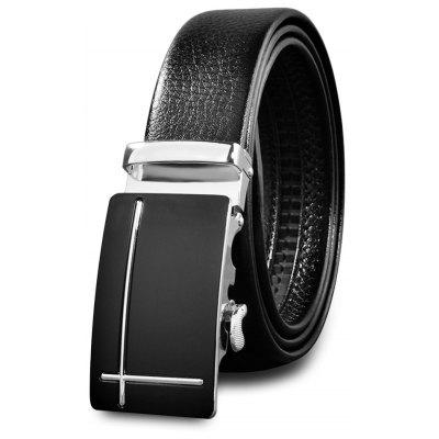 Trendy Automatic Alloy Buckle Men Waist Belt