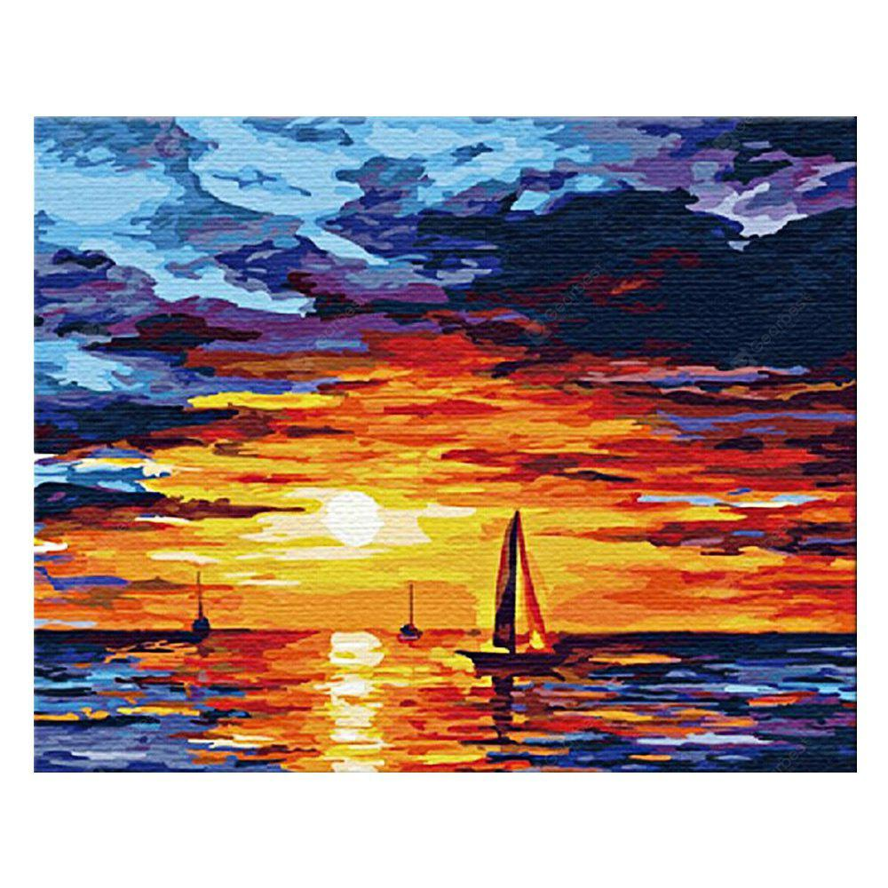 Sunrise DIY Digital Oil Painting Art Home Wall Decoration
