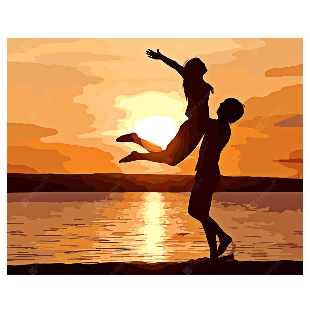 Lovers DIY Digital Oil Painting Art Home Wall Decoration