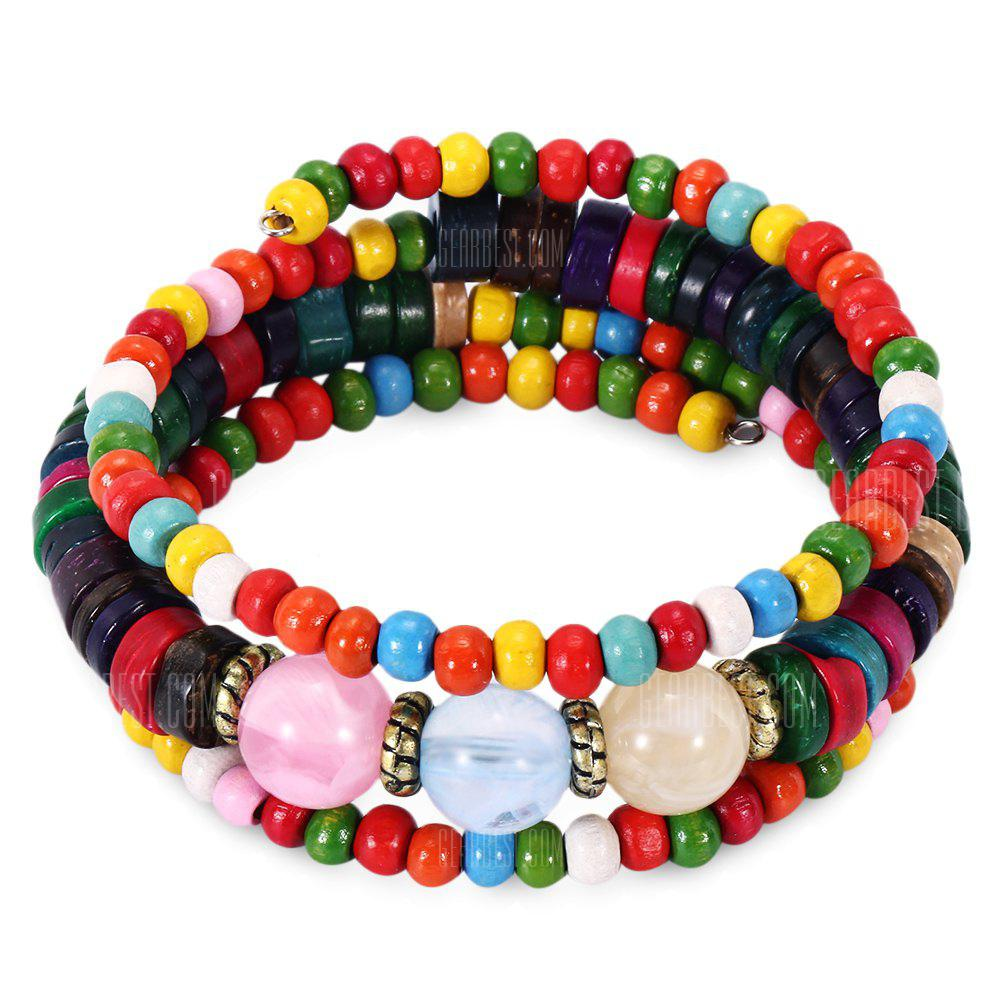 Bohemian Colorful Bead Women Wrap Bracelet