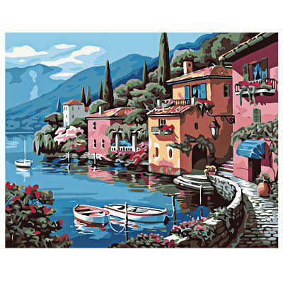 Buy COLORMIX Small Town DIY Digital Oil Painting Art Home Wall Decoration for $7.49 in GearBest store