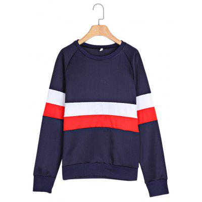 Trendy Round Collar Long Sleeve Women Sweatshirt
