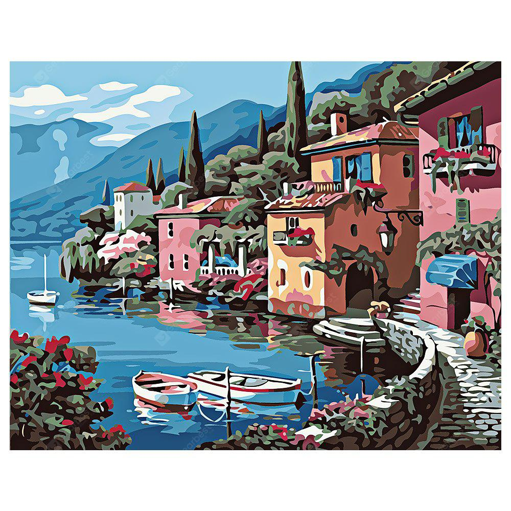 COLORMIX Small Town DIY Digital Oil Painting Art Home Wall Decoration