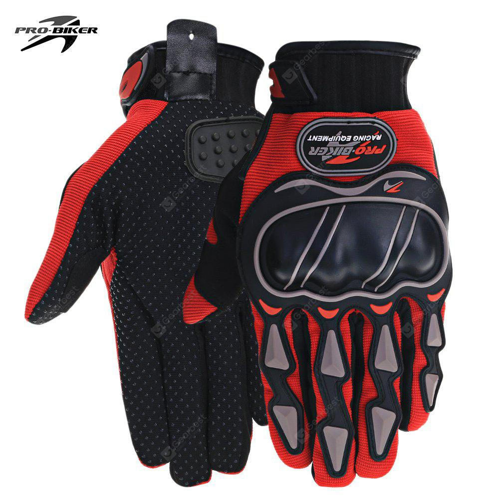 RED L PROBIKER MCS 03 Motorcycle Racing Gloves