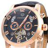 Buy Forsining A165 Male Tourbillon Automatic Mechanical Watch BLACK AND GOLDEN