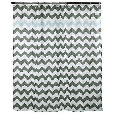 Waterproof Fabric Shower Curtain Waved Pattern 180 x 180cm