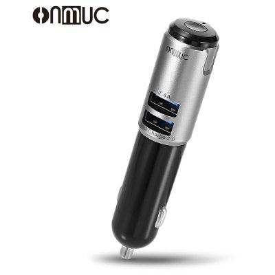 ONMUC Car Charge Hands Free Call with Bluetooth Earphone