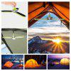 60309 18 LEDs Collapsible Clover Camping Tent Lantern Light - GREEN