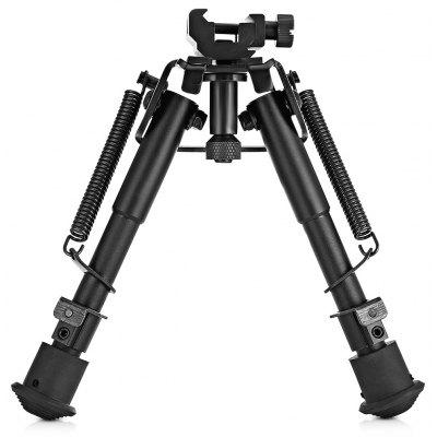 HD1806 6 - 9 inch Adjustable Tactical Bipod + Rail Mount Adapter