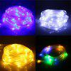 Solar Powered 100-LED Hollow Tube Copper Wire String Light - COLORFUL