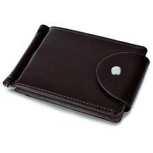 FLAMA Letter Snap Fastener Money Clip Card Wallet