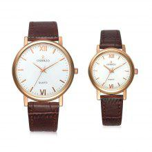 OSHRZO os8025p3 Couple Quartz Watch Concise Dial