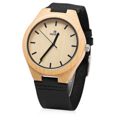 REDEAR Wooden Quartz Male Watch