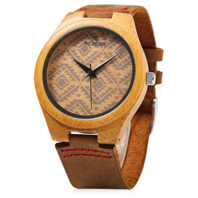 REDEAR SJ 1448 - 6 Wooden Female Quartz Watch