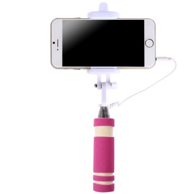Mini Wire Control Selfie Stick Monopod