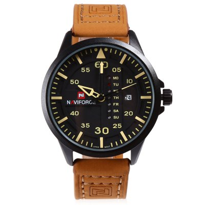 NAVIFORCE NF9074M Male Quartz WatchMens Watches<br>NAVIFORCE NF9074M Male Quartz Watch<br><br>Band Length: 8.27 inch<br>Band Material Type: PU<br>Band Width: 22mm<br>Case material: Alloy<br>Case Shape: Round<br>Clasp type: Pin Clasp<br>Dial Diameter: 1.77 inch<br>Dial Display: Analog<br>Dial Window Material Type: Hardlex<br>Feature: Day, Date<br>Gender: Men<br>Movement: Quartz<br>Package Contents: 1 x NAVIFORCE NF9074M Male Quartz Watch<br>Package Size(L x W x H): 27.00 x 6.00 x 2.00 cm / 10.63 x 2.36 x 0.79 inches<br>Package weight: 0.095 kg<br>Product Size(L x W x H): 26.00 x 5.00 x 1.00 cm / 10.24 x 1.97 x 0.39 inches<br>Product weight: 0.072 kg<br>Style: Business<br>Water Resistance Depth: 30m