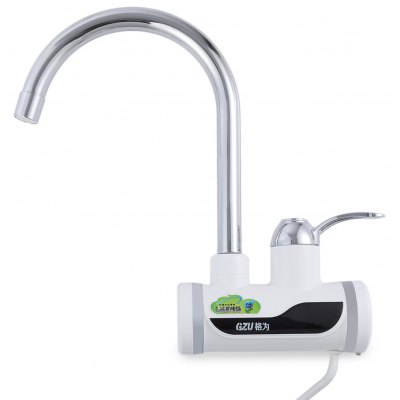Buy SILVER GZU ZM C4 Tankless Water Heater Faucet for $41.35 in GearBest store