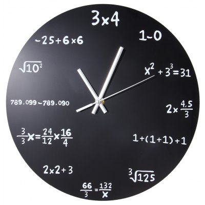 Matemáticas Blackboard Pop Quiz Reloj